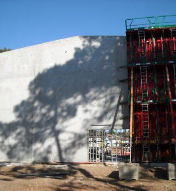 Voile de grande hauteur coulé en beton autoplacant