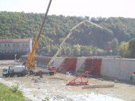 Coulage d'un barrage