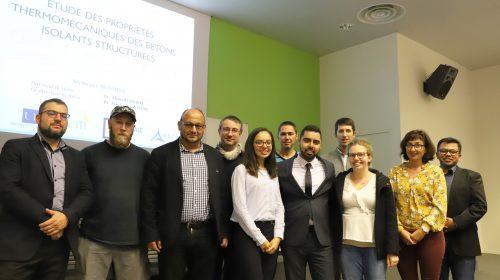 Equipe de la Chaire de recherche des bétons innovants pour de nouvelles applications EDYCEM Centrale Nantes