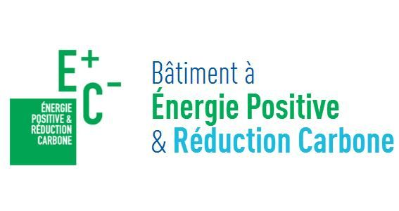 Pictogramme label E+C- Energie positive et Réduction Carbone