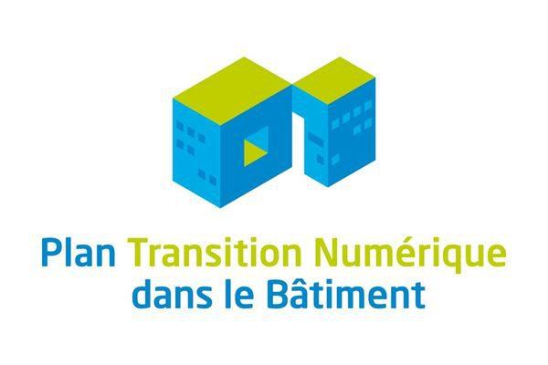 Logo plan transition numerique du batiment
